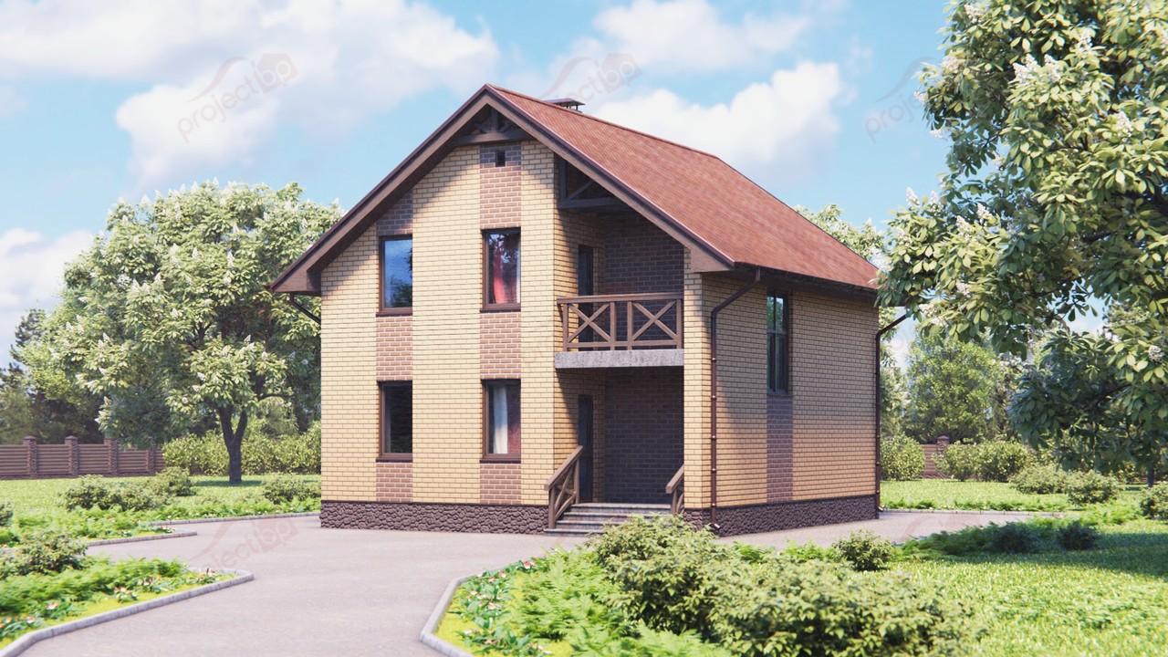 Проект компактного дома с мансардой A-111