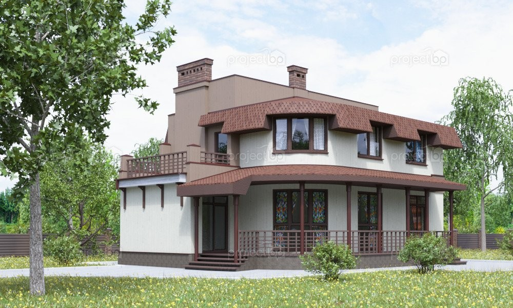 Проект дома в европейском стиле для узкого участка A-153